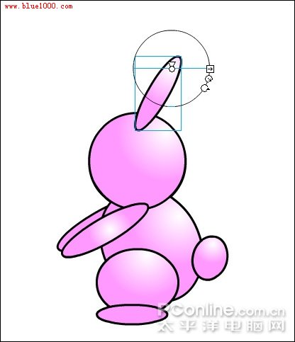 """题目:flash绘制卡通可爱""""小兔子跷跷板"""""""