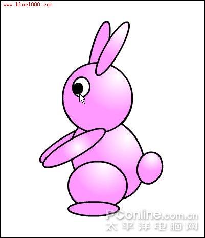 """flash绘制卡通可爱""""小兔子跷跷板""""-flash课件吧"""