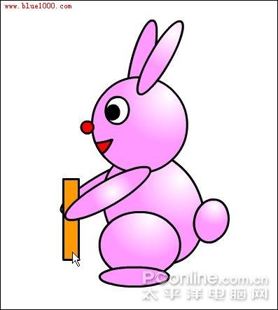 """flash绘制卡通可爱""""小兔子跷跷板""""动画"""